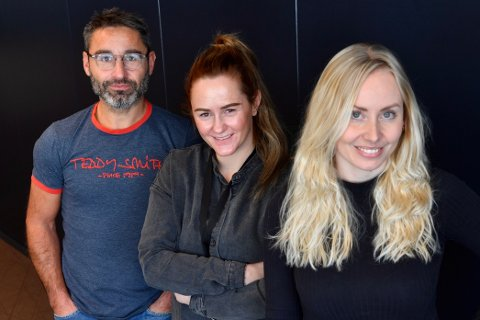NYE PÅ LAGET: Lena Erikke Hatland (til høyre) har fått med seg Gunnar Hemming og Marte Volden ved NAs lokalkontor i Ytre Namdal. I tillegg er NA i ferd med å ansette en egen, dedikert markedskonsulent i distriktet.