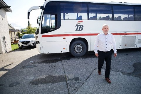 Vidar Kjesbu, administrerende direktør i Trønderbilene, er skuffet etter at det ble kjent at Vy Buss har vunnet anbudet om å kjøre rutebuss utenfor Trondheim.