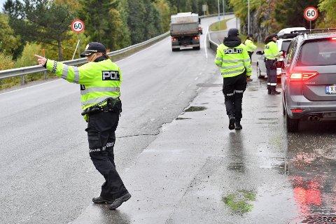 STORKONTROLL: Torsdag morgen gjennomførte politiet en promillekontroll i Namsos.