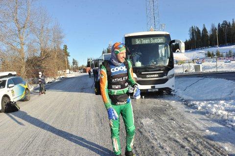 KAOTISK: Selv om lørdagens fellesstart i Falun ble av det kaotiske slaget, fosset Thomas Hjalmar Westgård inn til karrierens fjerde beste verdenscupplassering. Nå mener han å være i god rute mot VM.