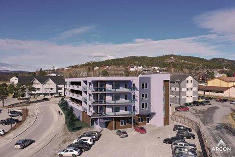 SENTRAL BELIGGENHET: Midt i Kolvereid sentrum planlegges det 24 leiligheter. Prosjektet stoppet opp, delvis som følge av koronaens inntog i fjor vår. Nå satser CE Eiendom på relansering av prosjektet.