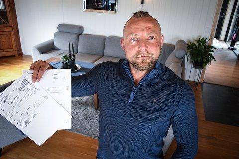 GRUER SEG TIL NESTE REGNING: Conrad Henriksen fikk en strømregning på 6.800 kroner for januar.