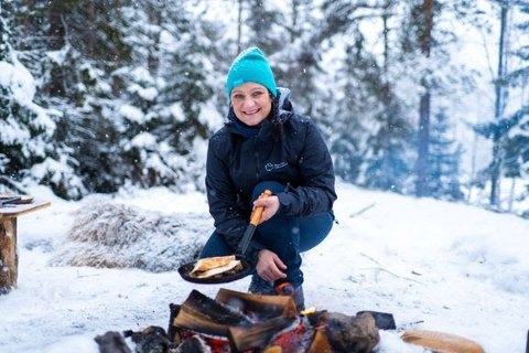 TORTILLA-TREND: Tik Tok-trenden med å brette tortillas med ulikt fyll kan fint lages på bål mener Norsk Friluftsliv.
