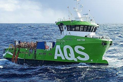 TOR: Her ser vi «AQS Tor», som har seilt sin egen sjø etter at den tirsdag formiddag falt av lasteskipet Eemslift Hendrika.