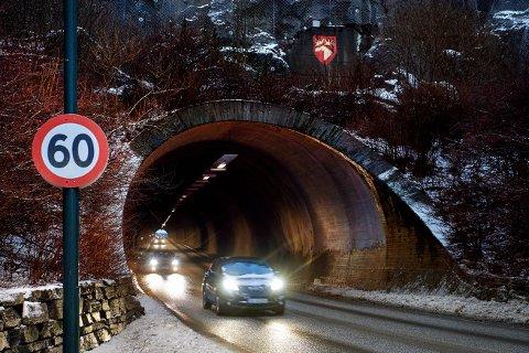 STENGT: Vikatunellen i Namsos blir stengt i to netter.