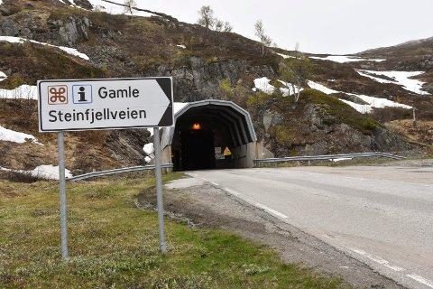 INSPEKSJON: Har du tenkt å kjøre gjennom Steinfjelltunnelen de neste dagene, bør du sjekke tidspunktene – for på grunn av inspeksjoner vil den bli stengt i perioder.