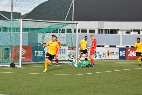 KAMPENS MATCHVINNER: Sindre Sakshaugs 1-0-scoring ble kampens eneste mål.