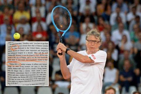 Henges ut: Gamle uttalelser fra Bill Gates blir tolket og vridd til å «bevise» at han har vært med på å spre koronaviruset. Samtidig mener andre en bok fra 1989 forutså viruset. Her er Gates avbildet under en tenniskamp tidligere i år.