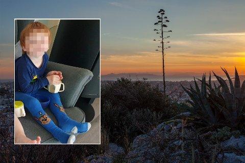 I HELLAS: Ricky Pedersens sønn ble tatt med til Hellas sommeren 2020.