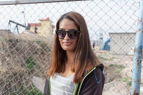 Shamima Begum (21) fotografert i  mars 2021 i leiren Al Roj i Syria.