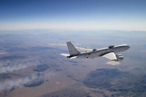 VERDENS FARLIGSTE FLY: E-6 Mercury, som er en ombygd Boeing 707, skal også være blant USAs såkalte dommedagsfly.