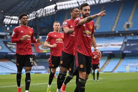 LEDER: Bruno Fernandes har blitt en lederskikkelse for klubben etter at han kom til Manchester United for litt over et år siden.