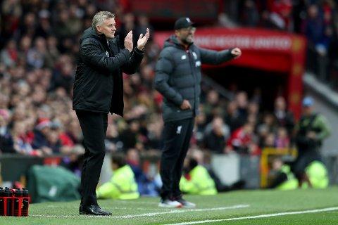 ANGRIPER KLOPP: Ole Gunnar Solskjær gir Liverpool-manageren skylden for at United ikke har fått straffer de to foregående kampene.