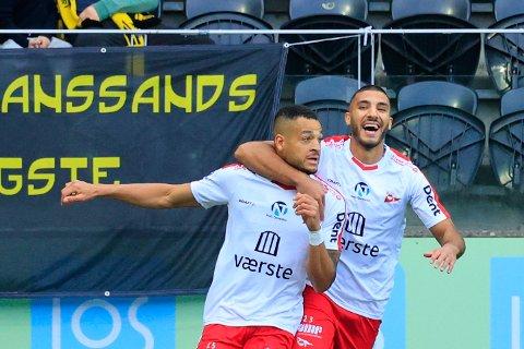 SCORINGER: Riki Alba scoret tre mål mot Start, og er naturligvis med på rundens lag.