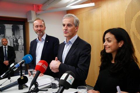 GIKK AV: Giske var en del av Arbeiderpartiets ledelse sammen med Ap-leder Jonas Gahr Støre og nestleder Hadia Tajik før han gikk av etter flere varsler om seksuell trakassering mot ham for to år siden.