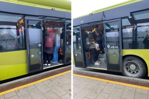 Slik type trengsel på bussene i Trondheim bekymrer kommunedirektøren.