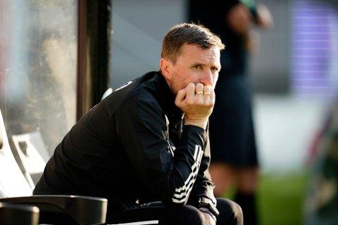 Rosenborgs trener Eirik Horneland ville ikke prate med pressen etter tapet. Foto: Ole Martin Wold / NTB scanpix