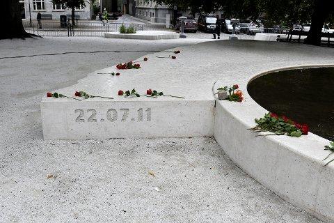 Minnesmerket for terrorangrepene 22. juli 2011 i Tordenskioldparken. Hvordan husker du dagen for 10 år siden?