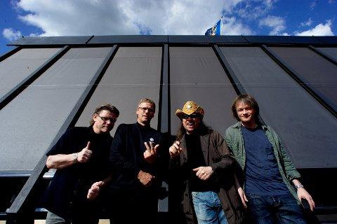 80-tallsgruppa The Kids fikk avlyst sommerens jubileumsturné. På bildet f.v. Arild Samstad, Ragnar Vigdal, Dag Ingebrigtsen og Torstein Flakne