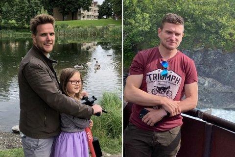 Brødrene Tor Martin og Ole Christian Norvik har hevet seg ut i et prosjekt på hjemplassen sin. Her sammen med lille Erle (6).