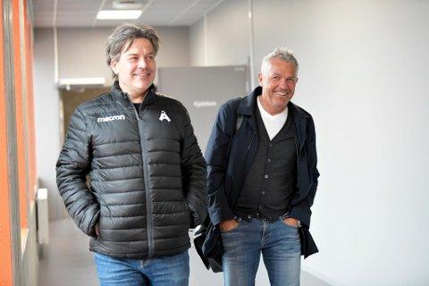 Gorm Natlandsmyr og Kåre Ingebrigtsen var tirsdag i samtaler om jobben som sportssjef i Åsane.