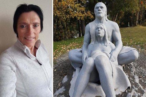 Bente Sørtømme tok grep etter at Humans-statuen i Dalen aktivitetspark ble utsatt for hærverk.