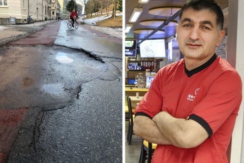 Nihat Özdemir sier bilen fikk skader etter møtet med hullet.