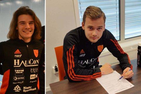 Andreas Økland (t.v) og Oskar Andreassen var tydelig skuffet da vi ringte ned til Portugal for en kommentar etter at landslagsdebuten røk mandag.