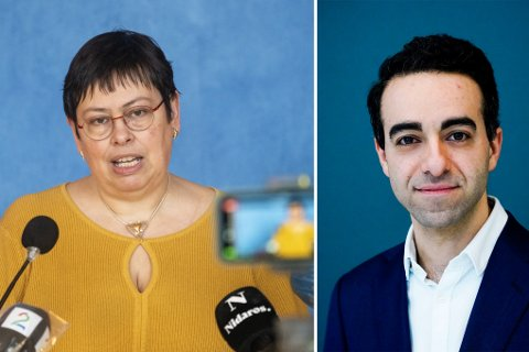 UENIGE: Rita Ottervik (Ap) og statssekretær Saliba Andreas Korkunc (H).