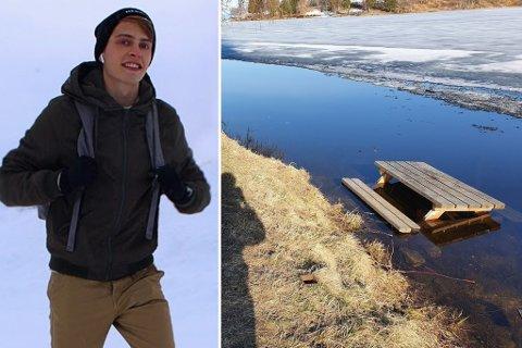 Åsmund Stenvik kastet seg på sykkelen og fikk fisket opp benkene fra vannet - nå hylles han for innsatsen.