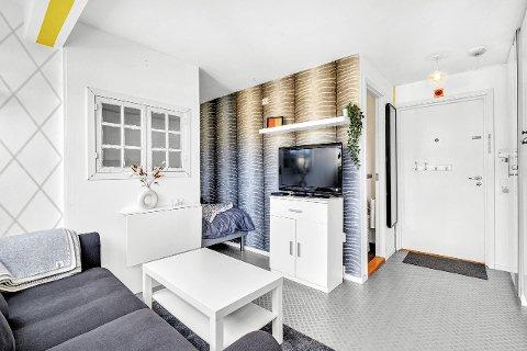 Denne  1-roms leiligheten på Buran gikk for 1,1 millioner kroner.