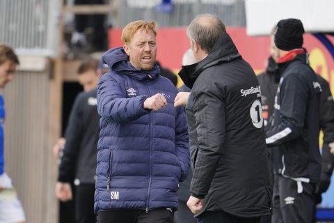 Svein Maalen og Åge Hareide takket for kampen, vel vitende om at de har slått hverandre 2-1 en gang hver i løpet av de siste ukene. Er RBK godt rustet til seriestart likevel? Ja, mener Ranheim-leieren.