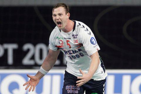 VAKSINERES: Håndballspilleren Sander Sagosen er glad for å få vaksinen før OL.