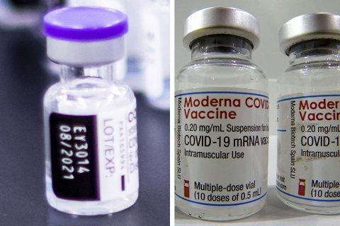 Det er en viss forskjell mellom koronavaksinene Pfizer og Moderna.