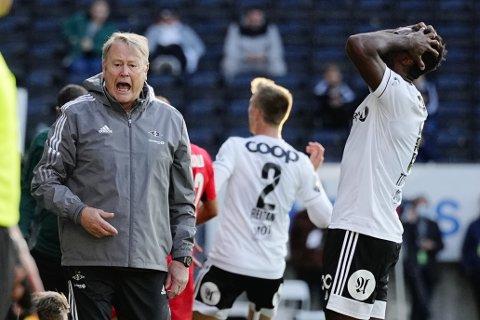 Rosenborg-trener Åge Hareide sendte utpå et offensivt lag mot Rennes, men det ville seg ikke.