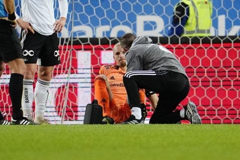Andre Hansen måtte forlate banen etter 64 minutter av kampen mot Mjøndalen.