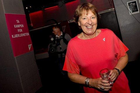 GLAD: Marianne Borgen smilte bredt på SVs valgvake under kommunevalget i Oslo 14. september. Allerede da var hun sitt partis ordførerkandidat. Foto: Jon Olav Nesvold NTB/Scanpix