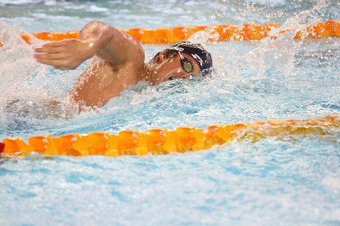 NUMMER TO: Knut Okar Skipperud ble andremann på 200 m fri i A-finalen med tiden 1,52,89.