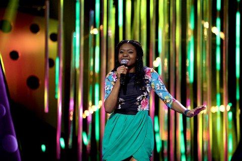 FINALIST: Nora Toure Idrissou fra Oppsal på scenen i Melodi Grand Prix junior 2015. FOTO: Susanne A. Finnes/NRK