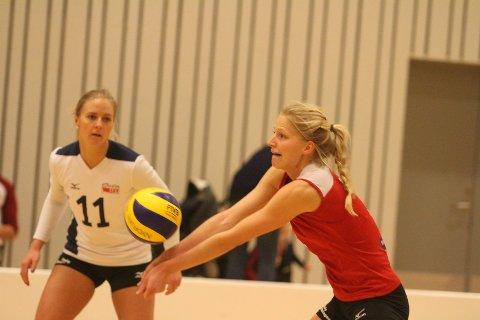 GOD: Ingrid Lunde har hatt en veldig bra høst i Oslo Volley.