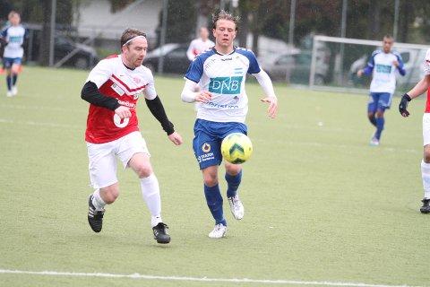 SCORET: Spissen Markus Woldsund scoret NIFs trøstemål mot Jevnaker.