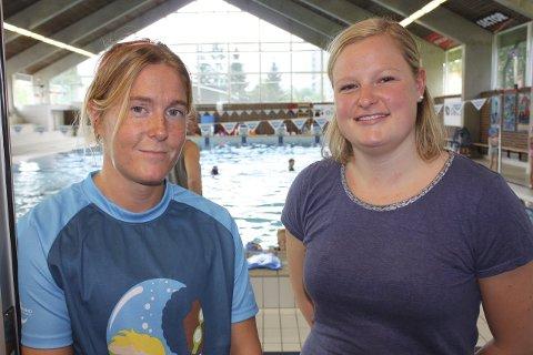 Instruktører og delansvarlige for svømmeskolen ved Lambertseter Bad, Renate Klokseth og Ina Kristine Pedersen.