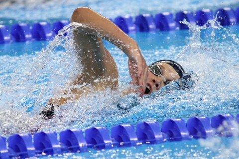 IMPONERTE: Marte Løvberg satte ny norsk juniorrekord i Baku under European Games. Foto: Halvor Lea, Olympiatoppen.