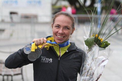 OSLOTRIPPELEN: Lisbeth Hildremyr fra Holmlia løp maraton, halvmaraton og 10 km rett etterhverandre.