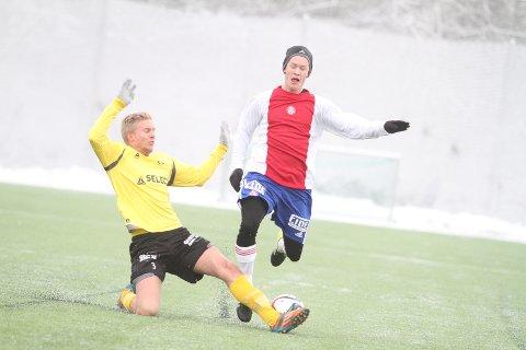 FRISK DEBUT: Stian Pettersen spilte sin første kamp etter overgangen fra Kjelsås, og kom bar fra debuten sin.