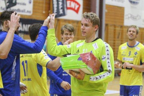 BEST: Keeper Kristian Sæverås var banens beste med sine 20 redninger.