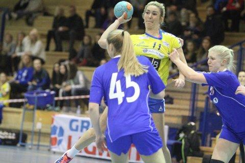 GOD: Rutinerte Linn Mangset spilte en god kamp mot Byåsen Bredde.