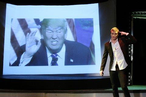 Donald Trump dukker opp i Kosta Miladinovic sitt foredrag.
