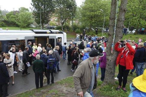 Jubileum: Et glimt fra T-banefesten på Bergkrystallen søndag 22. mai. Foto: Ivar Smith-Nilsen