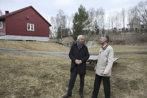 SPLEISELAG: Eivind Astrup og Tor Øvrebø håper de 600.000 kronene snart er på plass til Nordstrand aktivitetspark. AKIVFOTO: AINA MOBERG